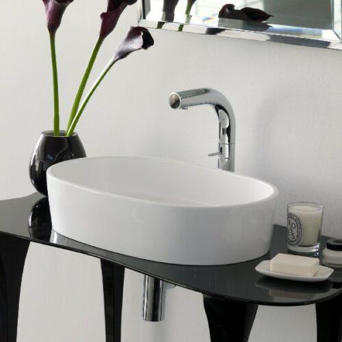 V&A ios 54 rimless countertop basin