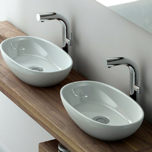 V&A Barcelona 48 rimless countertop basin