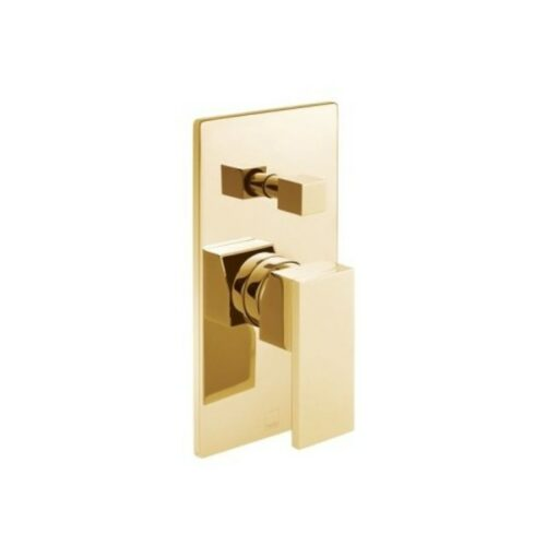 Notion Concealed Single Lever Wall Mounted Manual Shower Valve with Diverter Bright Gold