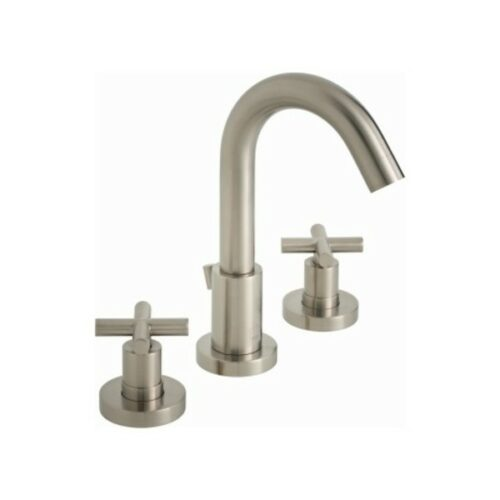 Elements 3 Hole Basin Mixer Deck Mounted with Pop-Up Waste Brushed Nickel