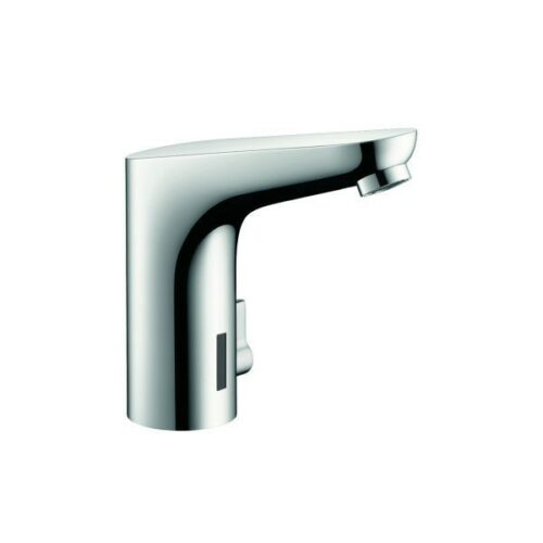 hansgrohe Electronic basin mixer chrome, with 230V mains connection Includes filter angle valves.