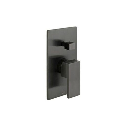 Notion Concealed Single Lever Wall Mounted Manual Shower Valve with Diverter Brushed Black