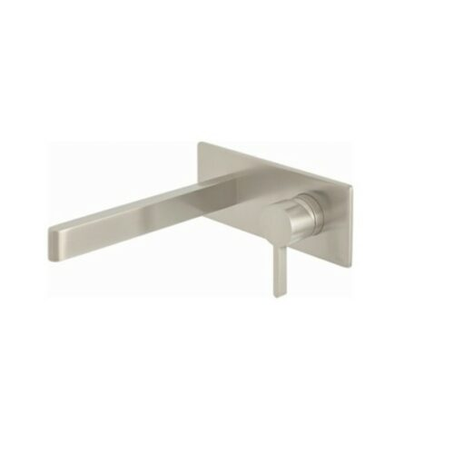Edit Wall Mounted Single Lever Mixer with Wall Spout 220mm Brushed Nickel