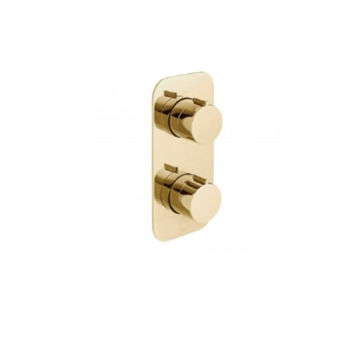 Bright Gold 2 Outlet Thermostatic Tablet Valve