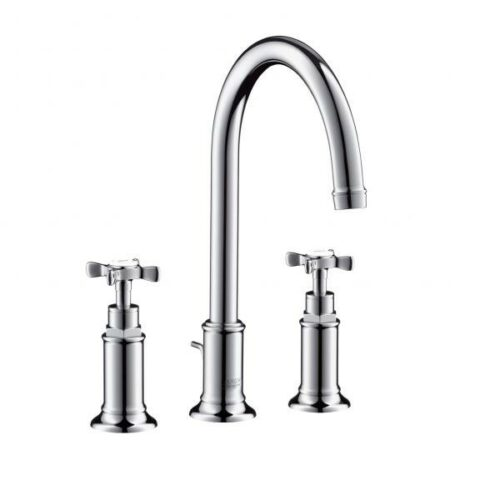AXOR Montreux three hole basin mixer 180 chrome