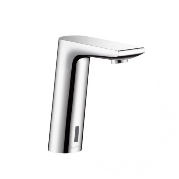 Hansgrohe Metris S electronic basin mixer with preset temperature battery-powered
