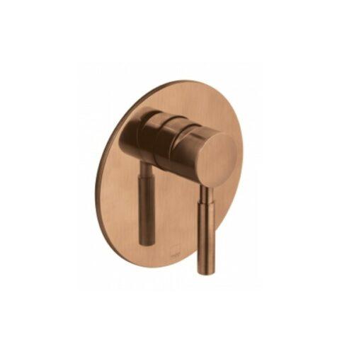 VADO Concealed manual shower valve single lever wall mounted Brushed Bronze
