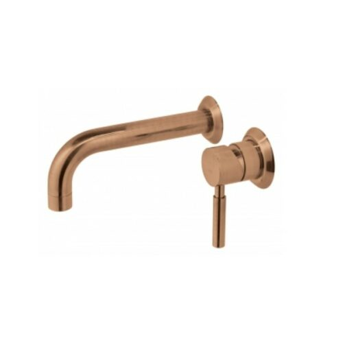 Origins wall mounted single lever mixer with wall spout 220 mm Brushed Bronze