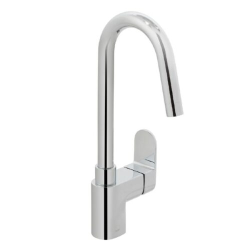 Life mono sink mixer single lever deck mounted with swivel spout