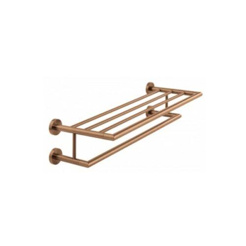 Spa Towel Shelf 600mm (24'') Brushed Bronze
